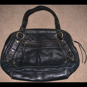Fossil leather purse hand bag pocketbook